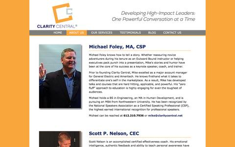 Screenshot of About Page claritycentral.net - Biographies | Clarity Central - captured May 18, 2017