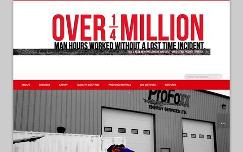 Screenshot of Blog profoxxenergy.com - BLOG | - captured Nov. 12, 2016