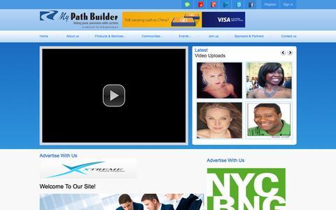 Screenshot of Home Page mypathbuilder.tv - My Path Builder - captured Sept. 30, 2014