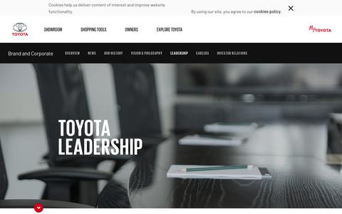Screenshot of Team Page toyota.co.za - Toyota South Africa - captured July 11, 2019