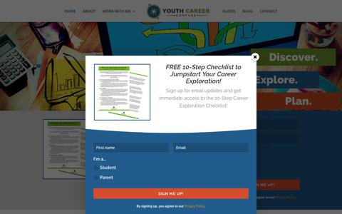 Screenshot of Home Page youthcareercompass.com - Home - Youth Career Compass - captured Nov. 18, 2018