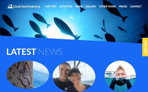 Screenshot of Press Page coralseadreaming.com.au - News - Coral Sea Dreaming - captured Sept. 29, 2018