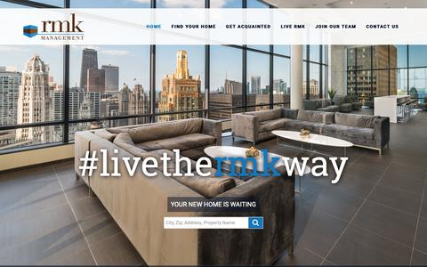 Screenshot of Home Page rmk.com - RMK Management Corp. | Apartments in Chicago, IL | Home - captured Nov. 16, 2018