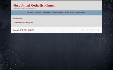 Screenshot of Team Page fumc-corinth.org - Leadership | First United Methodist Church - captured Dec. 4, 2018