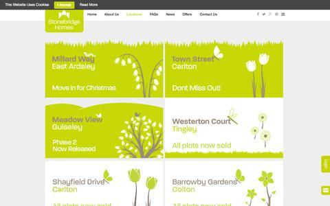 Screenshot of Locations Page stonebridgehomes.co.uk - Stonebridge Homes  » Locations - captured Nov. 4, 2014
