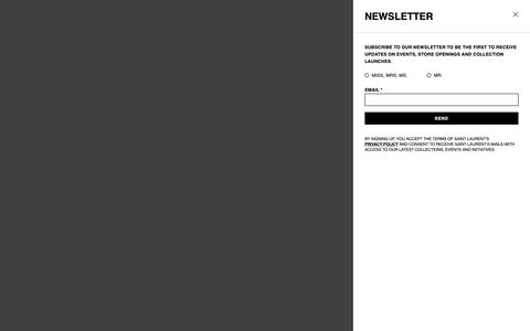Screenshot of ysl.com - Saint Laurent Official Online Store | YSL.com - captured June 12, 2019