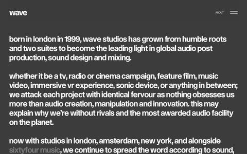 Screenshot of About Page wavestudios.co.uk - Wave Studios — About - captured Oct. 18, 2018
