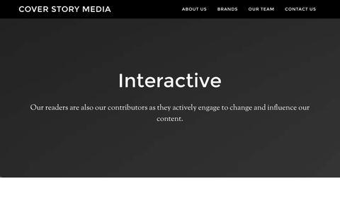 Screenshot of Home Page coverstorymedia.com - Cover Story Media - captured Jan. 21, 2016