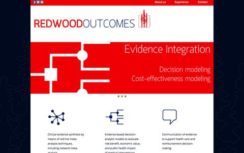 Screenshot of Home Page redwoodoutcomes.com - Redwood Outcomes - captured Oct. 7, 2014