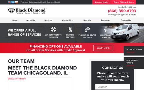 Screenshot of Team Page blackdiamondtoday.com - Meet the Black Diamond Team Chicagoland, IL - captured Dec. 10, 2016