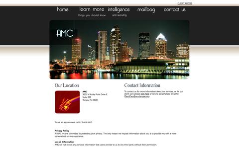 Screenshot of Privacy Page Contact Page amctampa.com - Career Consulting | Contact Us | Privacy Policy - Contact AMC - captured Oct. 4, 2014