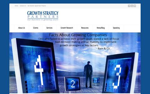 Screenshot of Home Page growthstrategypartners.com - Growth Strategy Partners - captured Feb. 2, 2016