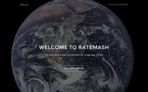 Screenshot of Home Page Privacy Page ratemash.com - Ratemash - captured Oct. 1, 2014