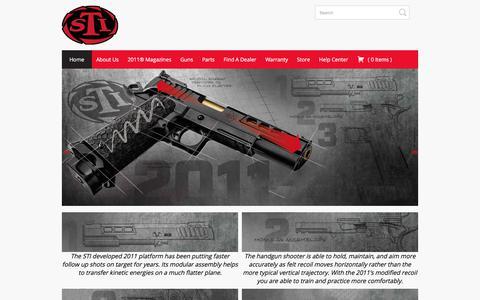 Screenshot of Home Page stiguns.com - STI Guns - captured Sept. 30, 2017