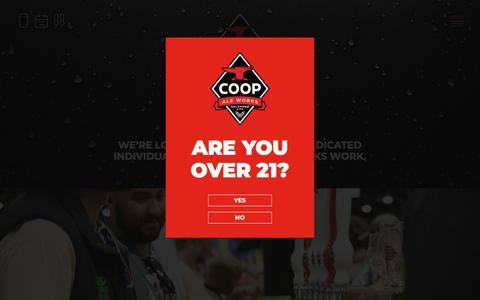 Screenshot of Jobs Page coopaleworks.com - Careers - Coop Ale Works - captured Nov. 4, 2018