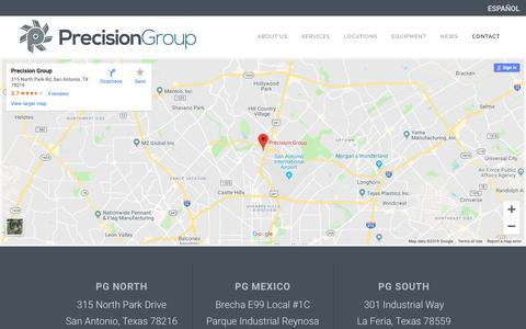 Screenshot of Contact Page precision-group.com - Request a Quote - Precision Group - captured Feb. 19, 2019