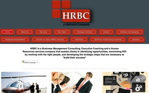 Screenshot of Home Page hrbc.us - HRBC - Home - captured Oct. 12, 2016