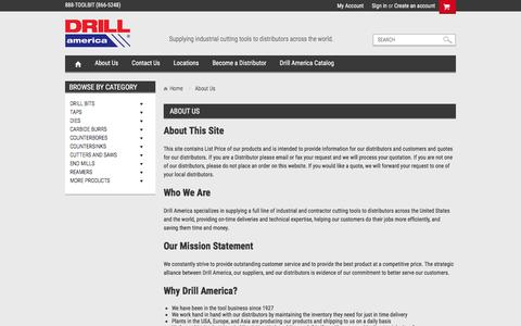 Screenshot of About Page drillamerica.net - About Drill America - captured Aug. 2, 2016