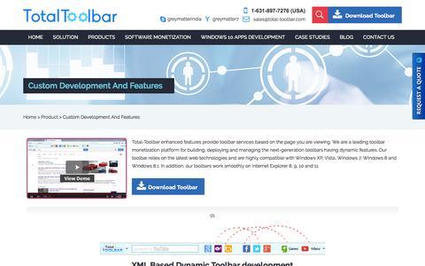 Screenshot of Products Page total-toolbar.com - Custom Toolbar Development, IE toolbar development, Firefox toolbar developments - captured Dec. 14, 2016