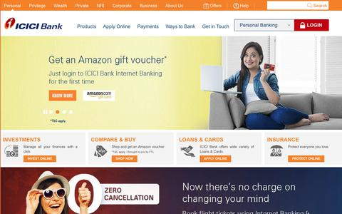 Screenshot of Blog icicibank.com - Personal Banking, Online Banking Services - ICICI Bank - captured May 13, 2018