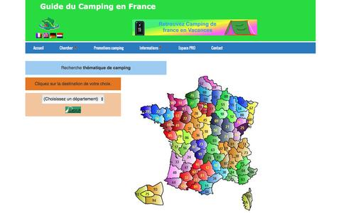 Screenshot of Locations Page campingdefrance.com - Locations - captured June 2, 2016