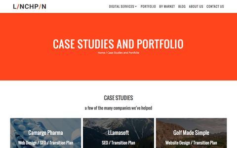 Screenshot of Case Studies Page linchpinseo.com - Case Studies and Portfolio   Linchpin - captured Feb. 4, 2017