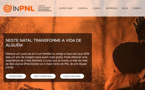 Screenshot of Home Page inpnl.com - InPNL - Instituto Internacional de Programação Neurolinguística | InPNL - captured Dec. 17, 2018