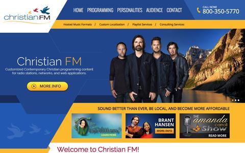 Screenshot of Home Page xfmmedia.com - Welcome to Christian FM! - ChristianFM - captured Jan. 27, 2016