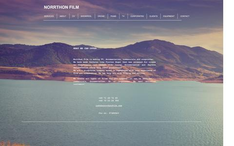 Screenshot of Home Page norrthonfilm.com - NORRTHON FILM, TV, DOCUMENTARY, COPENHAGEN - captured Aug. 17, 2016