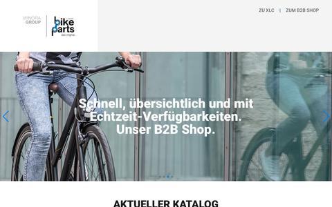Screenshot of Home Page bike-parts.de - Bike-Parts - captured Sept. 22, 2018