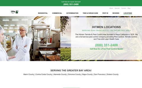Screenshot of Locations Page hitmenpest.com - The Hitmen Locations | Pest Control in the Bay Area Since 1978 - captured Dec. 21, 2018