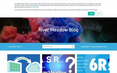 Screenshot of Blog rivermeadow.com - Cloud Migration Blog - RiverMeadow - captured Aug. 17, 2019