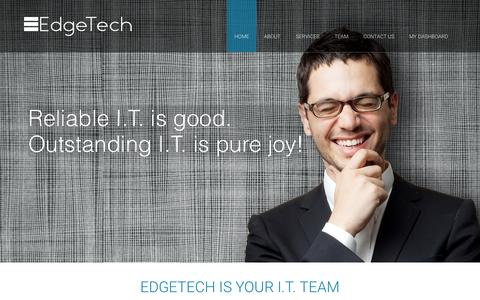 Screenshot of Home Page a3smart.com - EdgeTech » The IT Specialists. - captured Aug. 5, 2015