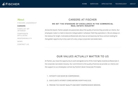 Screenshot of Jobs Page fischercompany.com - Careers — Fischer - captured Aug. 14, 2018