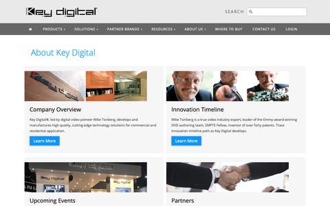 Screenshot of About Page keydigital.com - Key Digital® - About Key Digital - captured Oct. 15, 2018