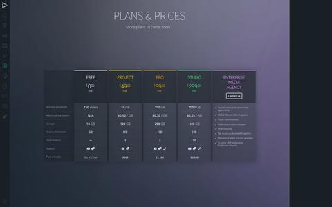 Screenshot of Pricing Page vidzor.com - Vidzor - captured Sept. 19, 2014