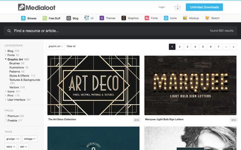 Resources From Graphic Art — Medialoot