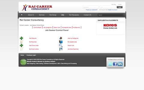 Screenshot of Jobs Page raicareer.com - Jobs - captured Oct. 31, 2014