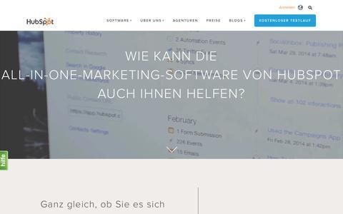 Screenshot of Products Page hubspot.de - HubSpot – Produktübersicht - captured Dec. 5, 2016