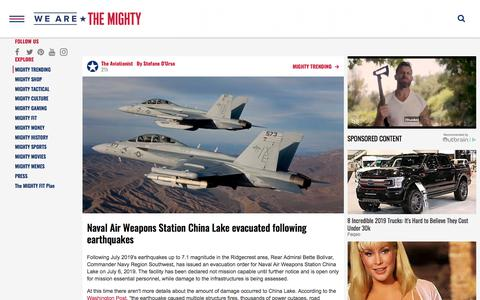Screenshot of Press Page wearethemighty.com - We Are The Mighty - MIGHTY TRENDING - captured July 9, 2019
