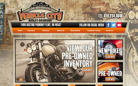 Screenshot of Testimonials Page vehiclecityharley.com - Flint, Michigan, Harley-Davidson, Motorcycles, Dealer, Used,  Sportster®, Dyna®, Softail®, Touring, CVO™,  Financing, Service, Part, Directions, Event - captured Oct. 7, 2014