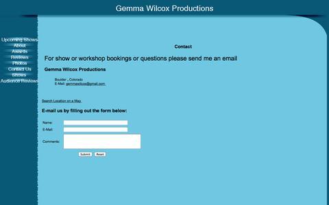 Screenshot of Contact Page gemmawilcox.com - Contact - captured Oct. 2, 2014