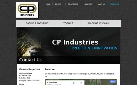 Screenshot of Contact Page Maps & Directions Page cpind.com - Contact Us | CP Industries - captured Oct. 22, 2014