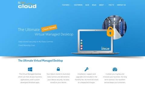Screenshot of Home Page itoncloud.com - IT on Cloud - captured Sept. 13, 2015