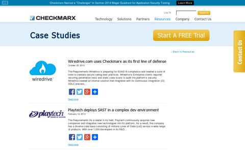 Screenshot of Case Studies Page checkmarx.com - Case Studies - CheckmarxCheckmarx - captured July 19, 2014