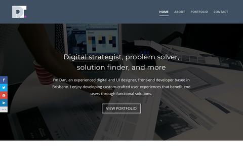 Screenshot of Home Page dantreasure.com - Dan Treasure – Web designer, front-end developer, UI/UX designer, sports lover … - captured Jan. 14, 2018