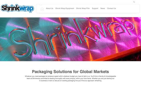 Screenshot of Home Page shrinkwrap.co.uk - Shrinkwrap Machinery Co. | Packaging Solutions - captured Oct. 4, 2014