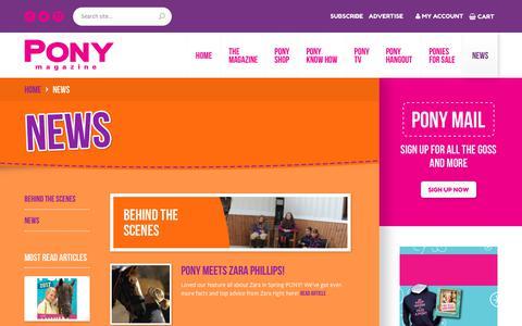 Screenshot of Press Page ponymag.com - News - Pony Magazine Pony Magazine - captured July 3, 2018