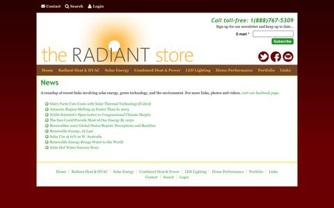 Screenshot of Press Page theradiantstoreinc.com - News | The Radiant Store - captured Jan. 12, 2016