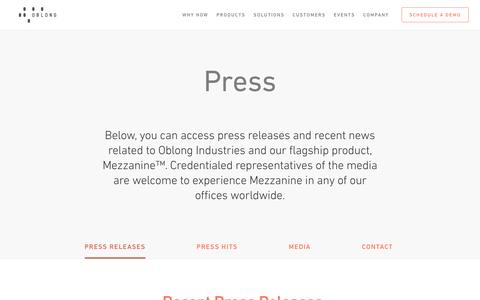 Press - Oblong Industries, Inc.